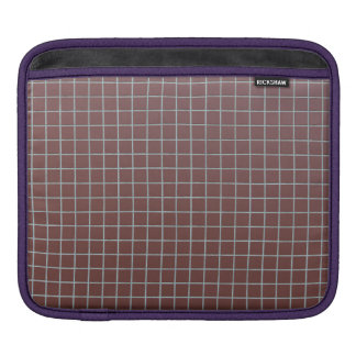 Square reddish tiles sleeve for iPads