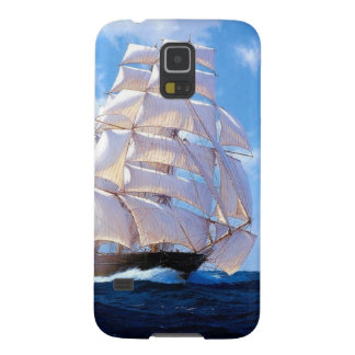 Square rigged ship at sea case for galaxy s5