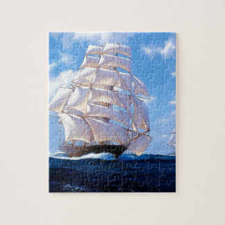 Square rigged ship at sea puzzles