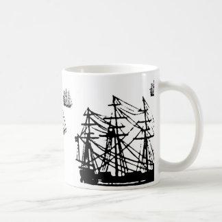 Square rigged ship mug