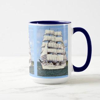 Square rigged tall ship mug