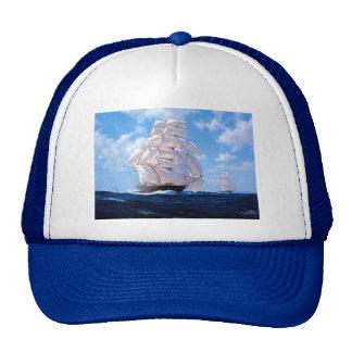 Square rigger at sea trucker hat