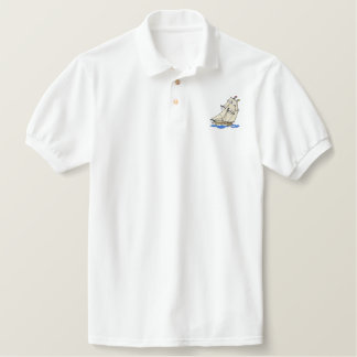 Square-rigger Embroidered Polo Shirt