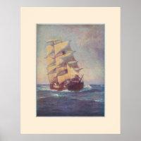 Square Rigger Ship poster