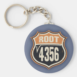 Square Root 66 Basic Round Button Keychain