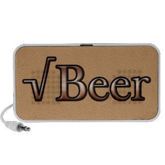 Square Root Beer iPod Speakers