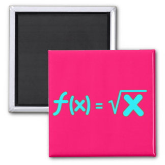 Square Root Function - Math Symbols 2 Inch Square Magnet