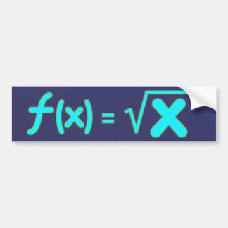 Square Root Function - Math Symbols Bumper Sticker