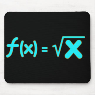 Square Root Function - Math Symbols Mouse Pad