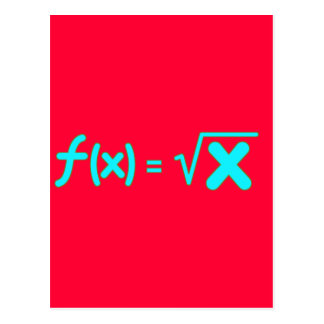 Square Root Function - Math Symbols Postcard