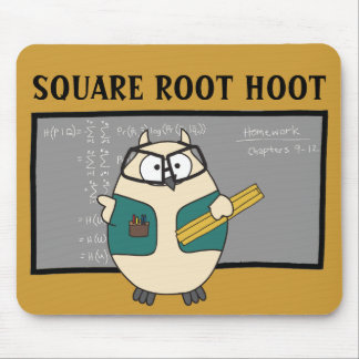 Square Root Hoot Mouse Pad