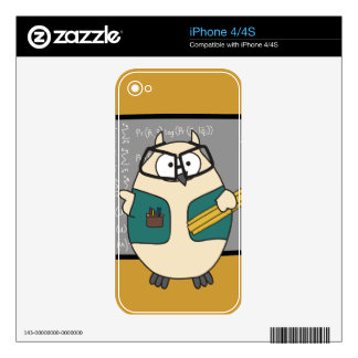 Square Root Hoot Decal For The iPhone 4