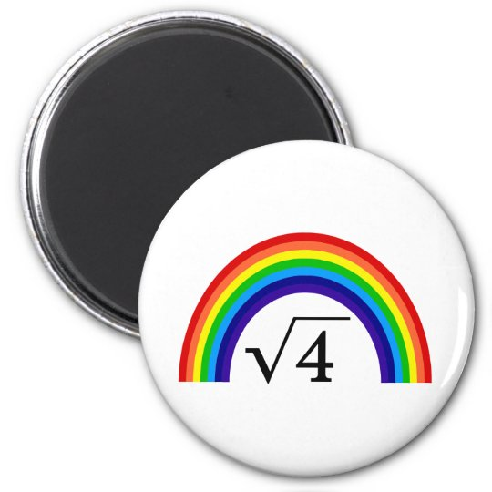 Square Root of 4 Equals Rainbow Magnet