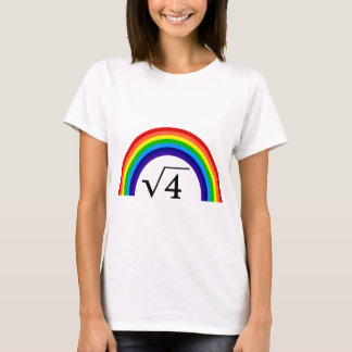 Square Root of 4 Equals Rainbow T-Shirt
