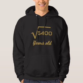 Square Root Of 6400 80 Years Old Hoodie