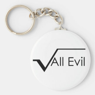 Square Root of All Evil Keychain