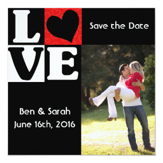 Square Save The Date Cards