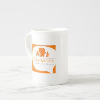 Square #SayDyslexia Logo Tea Cup