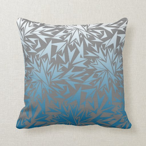 Silver Blue Decorative Pillows : Square scatter cushion in silver and blue throw pillow Zazzle