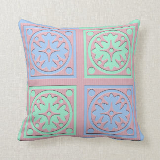 Square scatter cushion in soft colours