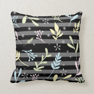 Square scatter cushion with a modern nature theme