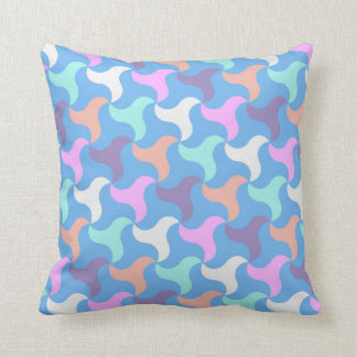 Square scatter cushion with bold geometric shapes