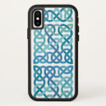 Square Scottish Celtic Knots in Light Blue iPhone X Case