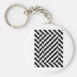 Square Shape Optical Illusion Keychain