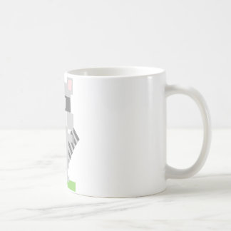 Square Shaped Cartoon Raccoon Sticking Out Tongue Coffee Mugs