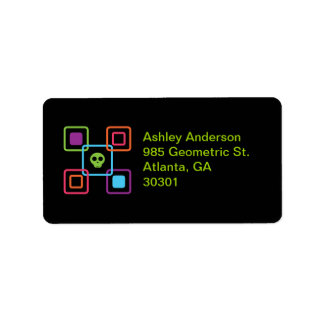 Square Skull Personalized Address Labels