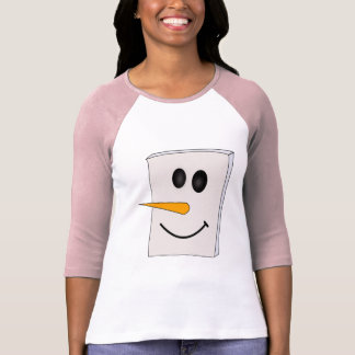 Square Smiling Snowman T Shirt