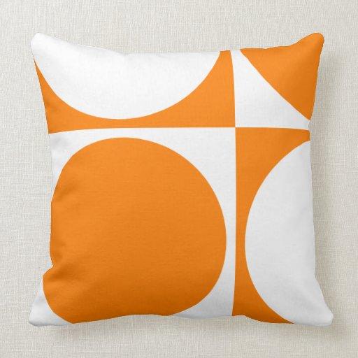Square Sofa Cushion Orange SquaresampCircles Throw Pillows