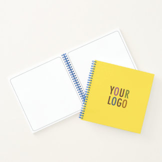 Square Spiral Notebook with Business Logo No Lines