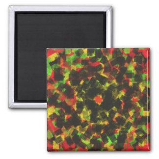 square sponge pattern 2 inch square magnet