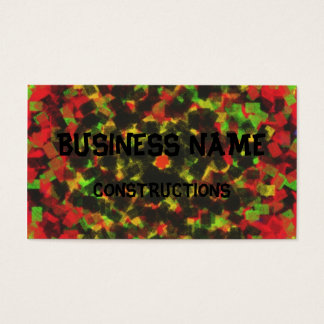 square sponge pattern business card