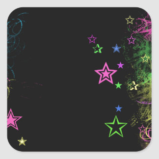 Square Star Stickers