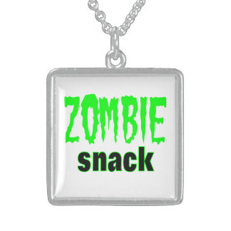 Square Sterling Silver Necklace Zombie Snack