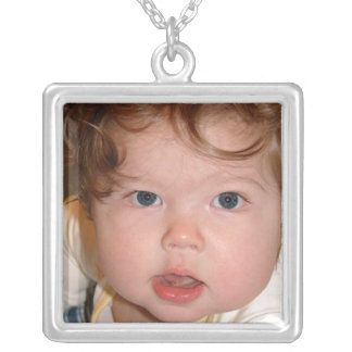 Square Sterling Silver Photo Necklace