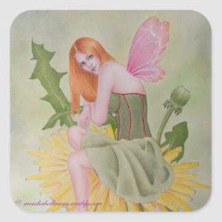 Square Sticker Dandelion Fairy