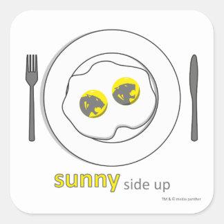 square sticker - sunny side up
