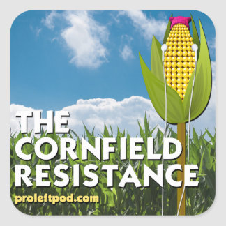 Square Stickers (20/pg) - The Cornfield Resistance