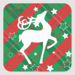 """Square Stickers, Glossy, Large, 3 inch (sheet of 6 Square Sticker<br><div class=""""desc"""">Christmas Reindeer Stickers</div>"""