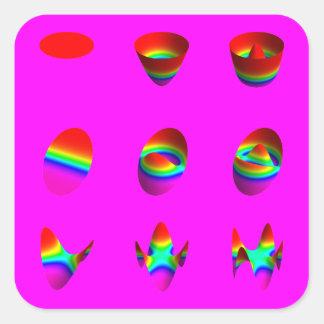 square stickers, Zernike table, magenta Square Sticker