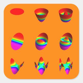 square stickers, Zernike table, orange Square Sticker