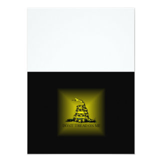 Square Sunburst Gadsden Flag Card