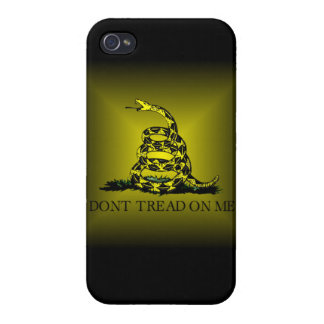 Square Sunburst Gadsden Flag iPhone 4/4S Case