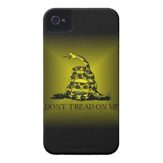 Square Sunburst Gadsden Flag iPhone 4 Covers