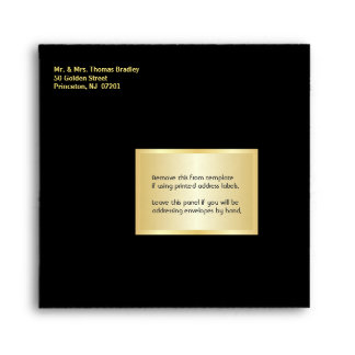 Square Surprise Party Invitation Envelopes - Black
