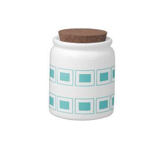 Square Text (10 oz) Porcelain Candy Jar
