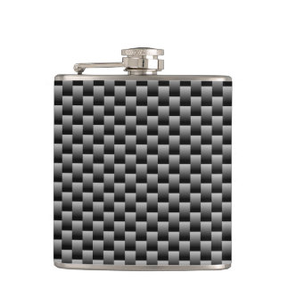 Square Texture Hip Flask